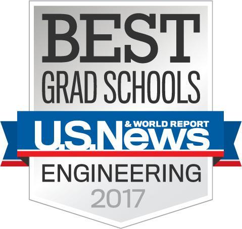 年USNews美国大学化学工程专业研究生排名