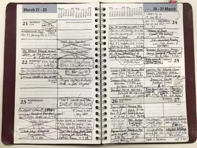 哈佛学霸的周计划表