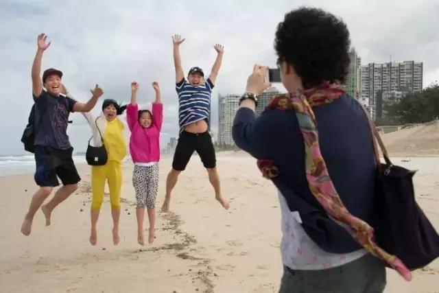 中国留学生旅游装逼