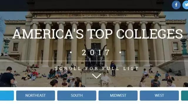 美国最佳大学排行榜