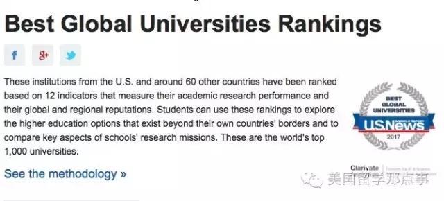 USNews全球大学排名