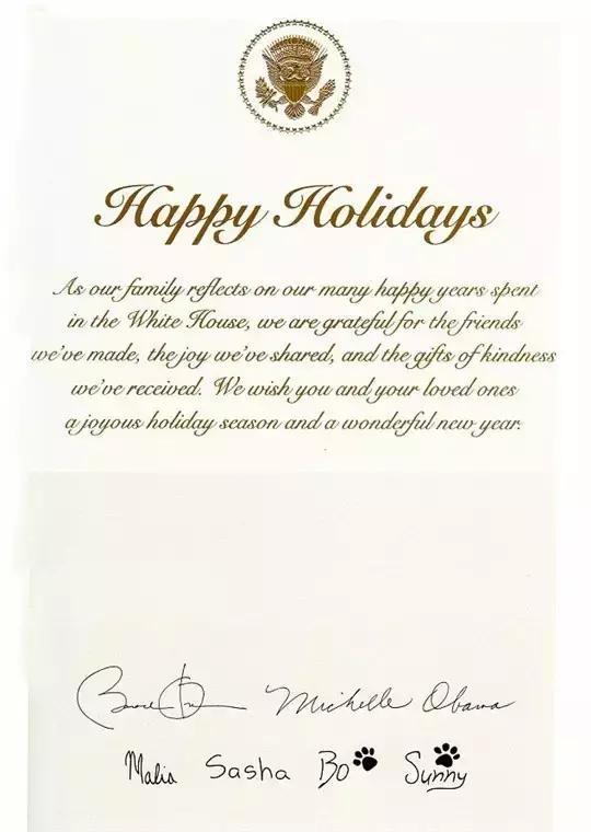 奥巴马圣诞贺卡
